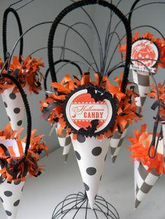 Halloween Tussie Mussie / cones