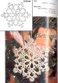 Best 12 can't wait to try it with sparkle thread frivolete – Page 367043438362439686 – SkillOfKing. Christmas Embroidery Patterns, Hand Embroidery Patterns, Lace Patterns, Crochet Patterns, Canvas Patterns, Tatting Earrings, Tatting Jewelry, Tatting Lace, Shuttle Tatting Patterns