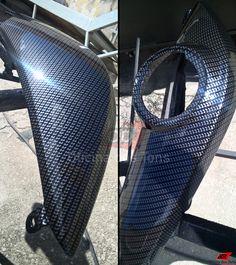 #PinturaHidrografica fibra de carbono em laterais rabeta #BMW #F800R.