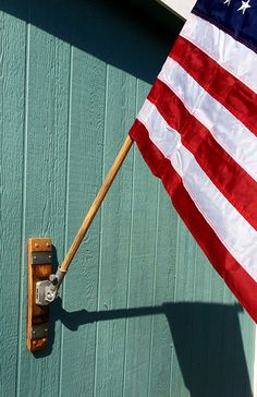 Banded Wine Barrel Flag Holder