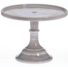 Gray Marble Milk Glass Cake Stands