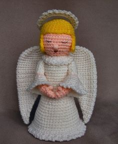 A 12 high Angel from my Holiday Series of Dolls. Can be made as a Christmas Angel, Easter Angel or just an Everyday Angel by adding ribbons, flowers or other embellishments.    DIGITAL DOWNLOAD - This listing is for the PDF pattern ONLY, not the finished item. This pattern will be available for download after payment transaction is completed. You will receive an email giving you the download information. Pattern purchase includes email support. See pattern for details.