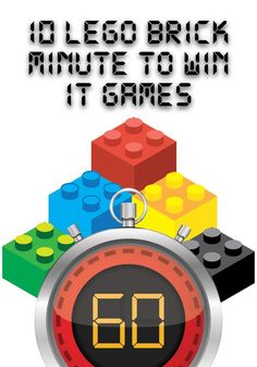 LEGO Themed Minute To Win It Games Lego Classroom Theme, Games For Kids Classroom, Lego For Kids, Lego Party Games, Lego Games To Play, Lego Building Games, Modele Lego, Sunday School Games, School Kids