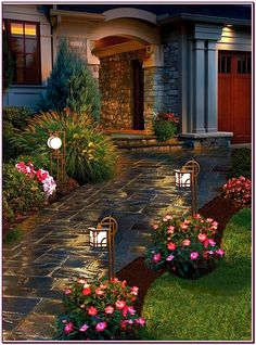22 Landscape Lighting Ideas | Walkways, Dark grey and Paths on walkway signage, walkway low voltage lighting, walkway bollard lighting, walkway landscape lighting, walkway lighting fixtures,