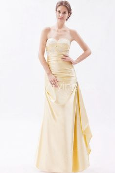 fancyflyingfox.com Offers High Quality Stunning Shallow Sweetheart Neckline Pale Yellow Full Length Bridesmaid Dresses Top Corset ,Priced At Only US$168.00 (Free Shipping)