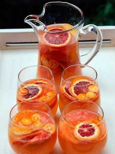 Just when you thought sangria season was over. Try these fall-flavored sangria recipes for Thanksgiving or anytime this season. Refreshing Drinks, Summer Drinks, Cocktail Drinks, Fun Drinks, Alcoholic Drinks, Cocktails, Beverages, Drinks Alcohol, Sangria Recipes