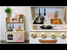 18 Super Ideas for diy kitchen play set kids ikea hacks Ikea Kids Kitchen, Play Kitchen Sets, Diy Kitchen Projects, Kitchen Hacks, Diy Projects With Cardboard, Cardboard Boxes, Diy Wall Decor, Diy Home Decor, Rental Kitchen Makeover