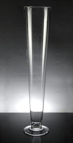 "24"" Clear Glass Flared Vase (top diam 5"")  $12.99 each"