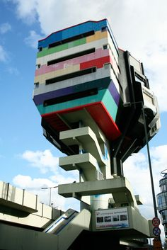 If youre looking for brutalist architecture in Berlin youre going to have to head to the West. At the time. Unusual Buildings, Interesting Buildings, Amazing Buildings, Beautiful Architecture, Art And Architecture, U Bahn Station, East Germany, Berlin Germany, Belle Villa