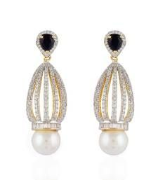 Buy Heena Fashion Pearl studded Collection Earings >> HJER30BL << danglers-drop online