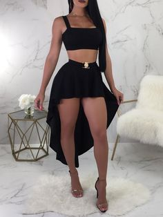 Sexy Sling Curvy Sized Two-Piece Sets by RosyProm on Zibbet Cute Casual Outfits, Sexy Outfits, Sexy Dresses, Cute Dresses, Dress Outfits, Summer Outfits, Girl Outfits, Fashion Dresses, Vetement Fashion