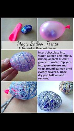 1b3320e9ab Water balloon Easter treats! Christmas Crafts