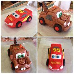 Cake toppers, cars theme, fondant, 17cm long.