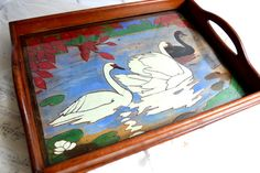 French Art Deco Serving Tray Hand Painted by shabbyfrenchvintage
