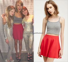 July 6, 2015   Loft 89   Ottawa, Canada  Get the look: Forever21 'Classic Skater Skirt' in red - $5.90  Wear it with: Abercrombie bralette & Steve Madden shoes