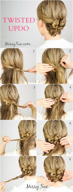 Twisted Updo for Wet Hair | MissySue.com