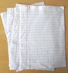 Felt notebook paper