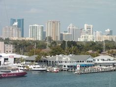 Fort Lauderdale Skyline on the Intracoastal Waterway