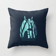 My Neighbor Totoro Throw Pillow by Filiskun - $20.00