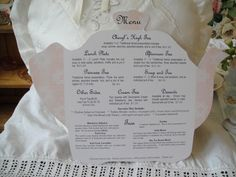 tea room menu idea