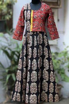 Super Diy Clothes For Women Upcycle Ideas Kids Blouse Designs, Designs For Dresses, Kurti Designs Party Wear, Kurta Designs, Kurti Patterns, Dress Patterns, Saree Dress, Hijab Dress, Kalamkari Dresses