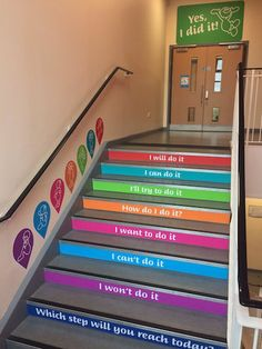 School stairs decoration 54 ideas hallway decorating hallway id. School Wall Decoration, School Decorations, School Hallways, School Murals, School Classroom, Classroom Decor, Ecole Design, School Bathroom, Kindergarten Design