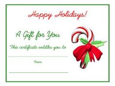 Perfect Free Holiday Gift Certificates Templates To Print