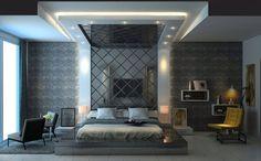 Bedroom False Ceiling Design, Bedroom Ceiling, Modern Bedroom Design, Master Bedroom Design, Contemporary Bedroom, Home Decor Bedroom, Home Interior Design, Bedroom Designs, Modern Master Bedroom