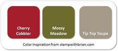 Stampin' Up! Color Inspiration: Cherry Cobbler, Mossy Meadow, Tip Top Taupe