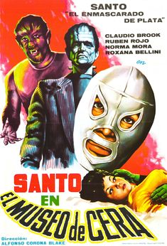 Lucha: Santo, Mexican luchador, in the Wax Museum movie poster
