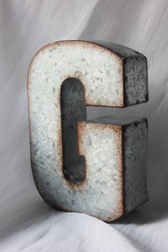 5 LARGE METAL LETTER Zinc Steel Initial Home by TheFulfilledShop