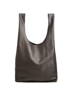 9798850908b BAGGU Slouchy Leather Tote in Black. DailyLook. Daily LookFashion  OnlineJewelry Accessories