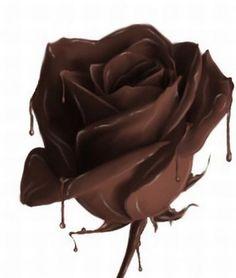 Dripping Chocolate Rose - 38 Beautiful Chocolate Sculptures | MeterDown
