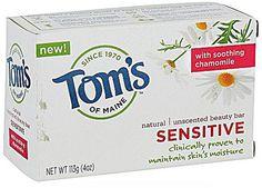 for babys sensitive skin...Tom's of Maine Natural Beauty Bar Sensitive Unscented