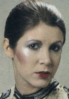 Princess Leia Organa makeup test from Star Wars Episode 6 Return Of The Jedi
