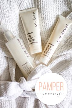 Take a few minutes to pamper yourself. The Fragrance-Free Satin Hands® Pampering Set is an easy, three step system that helps keep your hands feeling renewed, soothed and pampered! | Mary Kay