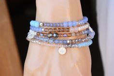 Beachy Colors 5x Wrap Bracelet2x Necklace by monroejewelry
