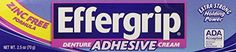 #topseller Unlike some denture adhesives, #Effergrip Denture Adhesive does not contain zinc. High concentrations of zinc have been shown to have health risks. Wh...
