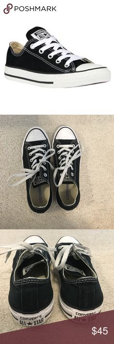 Black converse low top worn once. Amazing condition Converse Shoes Sneakers
