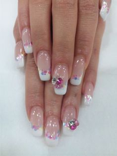 French tips with #nail art