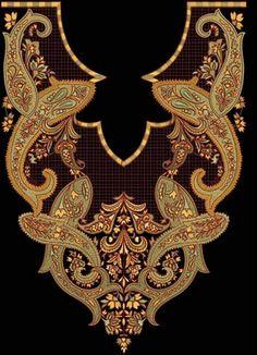 Fashion Blog: Necklines for Salwar Kameez | Ladies Dress Embroidery Design | Machine embroidery neckline designs
