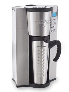 The top-scoring single-cup machine, Starbucks Barista Aroma Solo Monique Coffee Maker BAIS ($69) is unique in that it uses regular ground coffee (not pods or capsules like others in this category) and dispenses directly into the included 16-ounce thermal travel mug. This maker comes with a permanent filter and has a small footprint on a kitchen counter. For up to five hours after brewing, it will tell you how much time has elapsed (so you can decide if you want to make a fresh cup)…