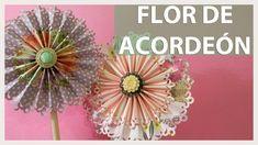 FLORES O ROSETONES DE ACORDEÓN PARA GUIRNALDAS O DECORAR. SCRAPBOOKING ...