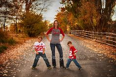 Go Huskers!  Football Family Fun in portraits!