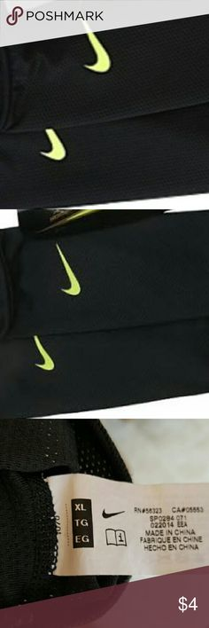 Like new nike soccer guard sleeves lrg/xl Stylish Black w/ neon green swoosh gaurd sleeves, light weight works well w/ mercurial shin guard unfortunately i only have 1 of those or i would theow them in with sleeves. Nike Other