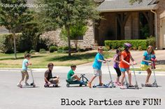 """Did I hear you say, """"block party""""?  Does your neighborhood have one?"""