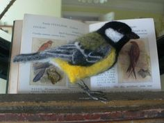 Gorgeous needle felted great tit Fforest Felt