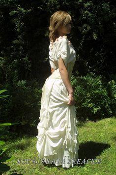 Romantic Steampunk Silk Alternative Wedding Creation by KataKovacs