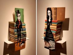 Oh, the Books! Bookish Find - Mike Stilkey's Painted Book Sculptures