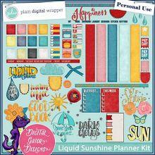Liquid Sunshine Planner Kit by Digital Gator Designs